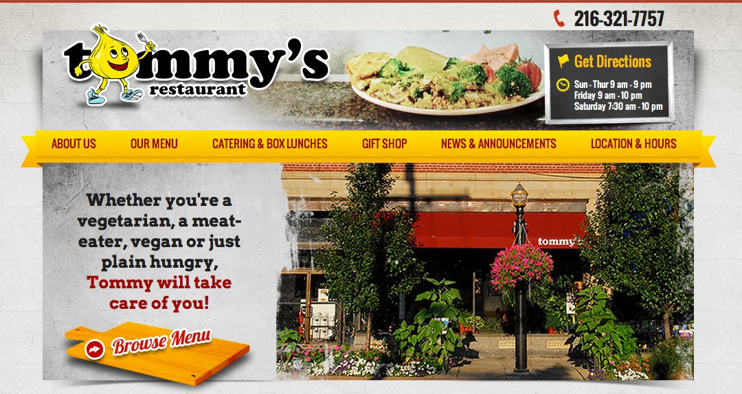 Just Launched: Tommy's Restaurant